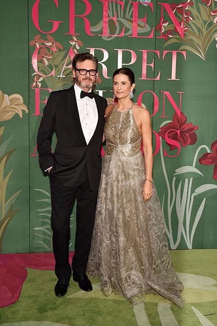 Колин Ферт с женой Ливией