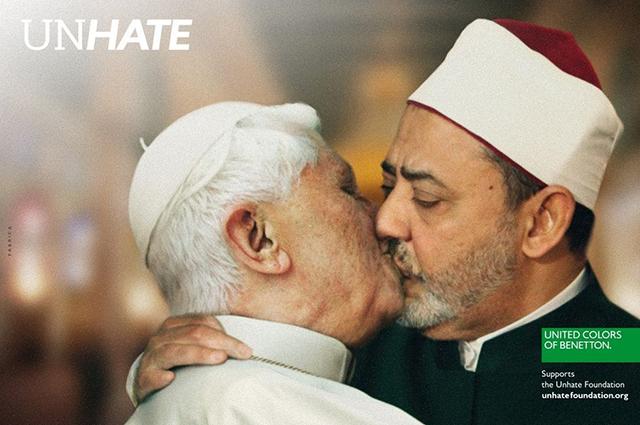 От запрещенных веществ до целующихся папы римского и имама: самые скандальные рекламные кампании