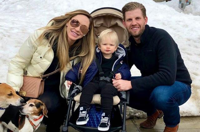 Лара и Эрик Трамп с сыном Люком