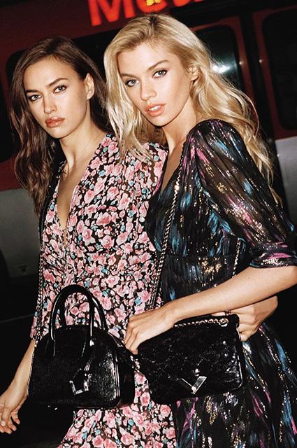 Ирина Шейк и Стелла Максвелл вместе позируют на снимках весенней рекламной кампании