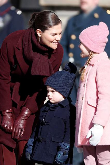 Принцесса Виктория, принц Оскар, принцесса Эстель