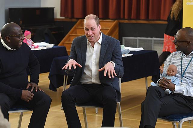 Принц Уильям  с участниками встречи
