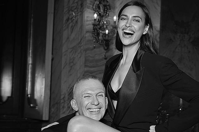 Ирина Шейк и Жан-Поль Готье поделились провокационным фото со съемок рекламной кампании