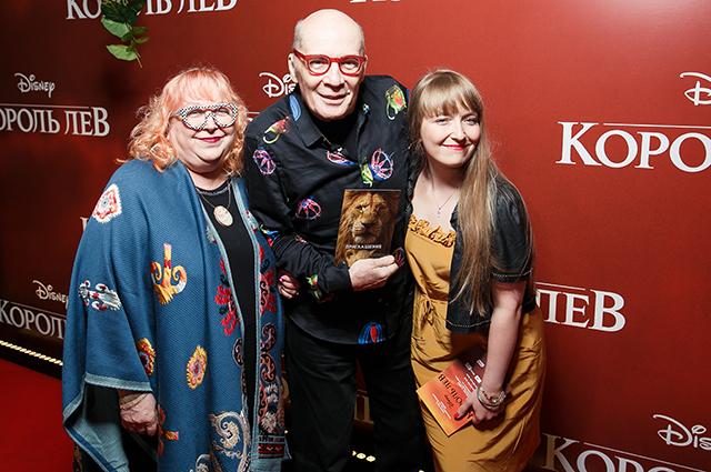 Александр Филиппенко с женой Мариной Ишимбаевой и дочерью Александрой