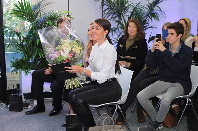 Джорджина Родригес на открытии клиники