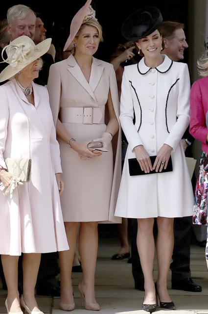 Герцогиня Корнуольская Камилла, королева Максима и Кейт Миддлтон