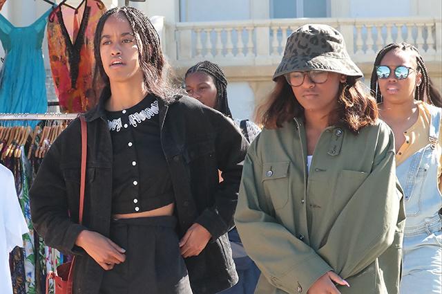 Барак Обама отдыхает с женой и дочерьми во Франции