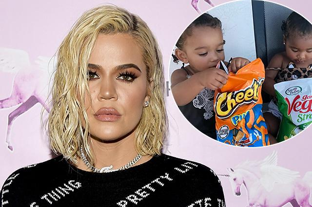 В сети раскритиковали Хлое Кардашьян за фото ее дочери Тру с пакетом чипсов и шутку о калориях