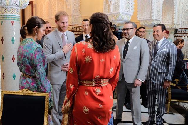 Принц Гарри и Меган Маркл в резиденции короля Марокко Мухаммеда VI