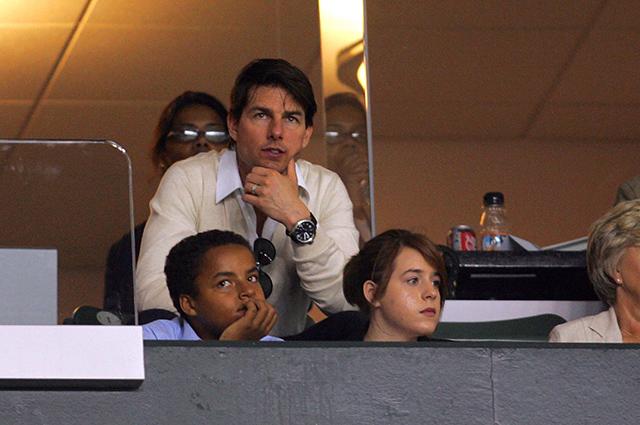 Том Круз с сыном Коннором и дочерью Изабеллой