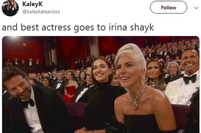 "Брэдли Купер, Ирина Шейк и Леди Гага на ""Оскаре-2019"""
