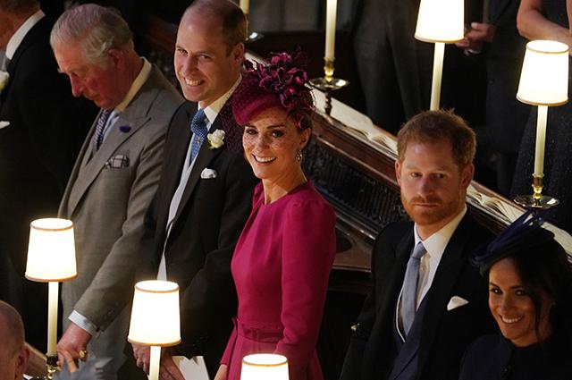 Принц Чарльз, принц Уильям, Кейт Миддлтон, принц Гарри, Меган Маркл