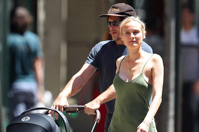 Диана Крюгер и Норман Ридус на прогулке с дочерью в Нью-Йорке