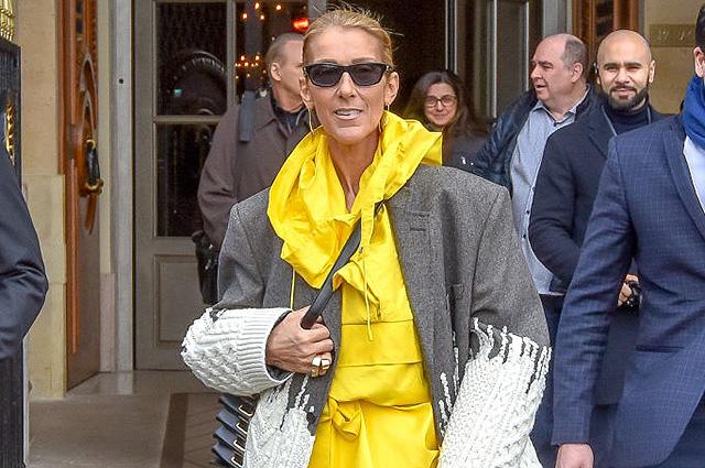 Яркое платье и кроссовки: Селин Дион в эксцентричном образе на улице Парижа