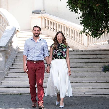 Николас Медфорт-Миллс с женой Алиной-Марией