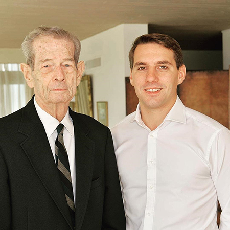 Король Михай с внуком Николасом