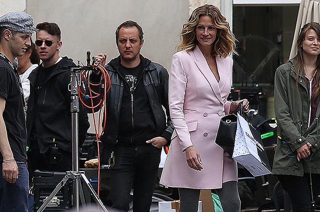 Джулия Робертс на съемках рекламной кампании в Вероне