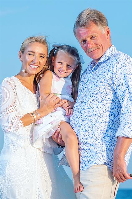 Татьяна Навка и Дмитрий Песков с дочерью Надей
