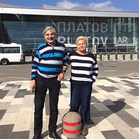 Александр Панкратов-Черный с женой Юлией
