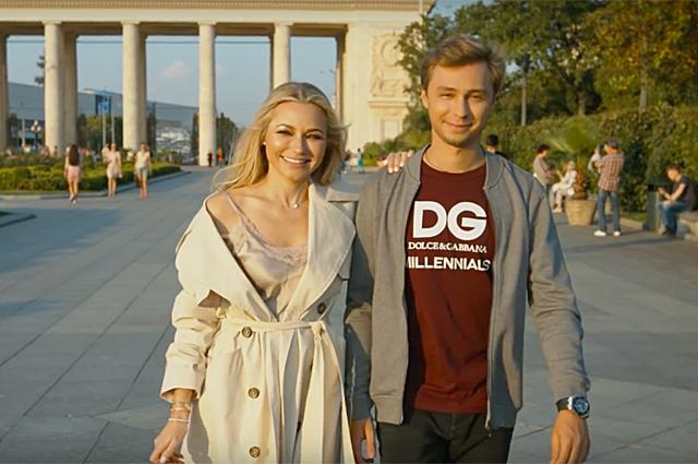 Инна Маликова с сыном