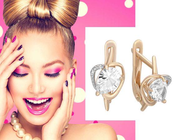 Золотые серьги — идеальный подарок для любимой женщины
