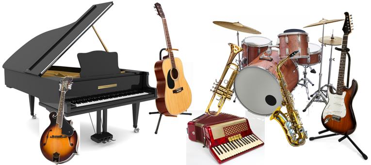 Музыкальные инструменты, световое и звуковое оборудование